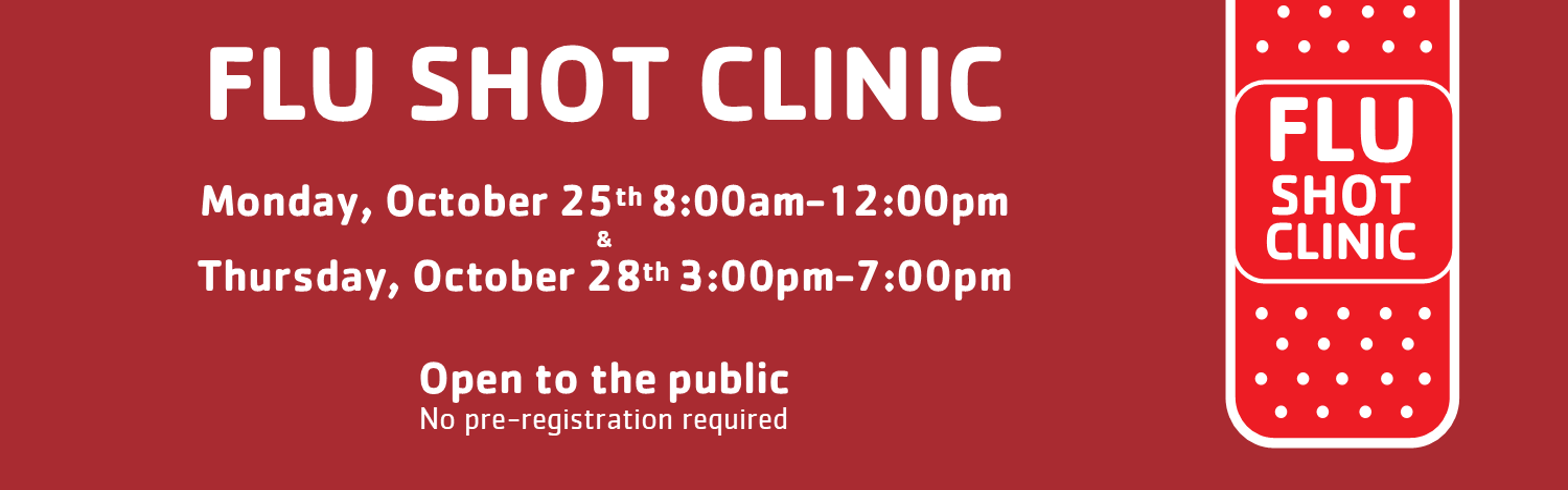 Flu Shot Clinic 2021